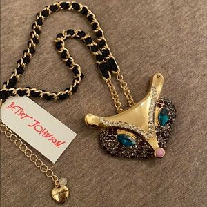 NWT Betsey Johnson Fox Pendant Necklace